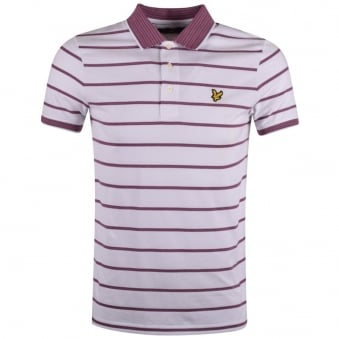 Lyle & Scott White Striped Polo Shirt