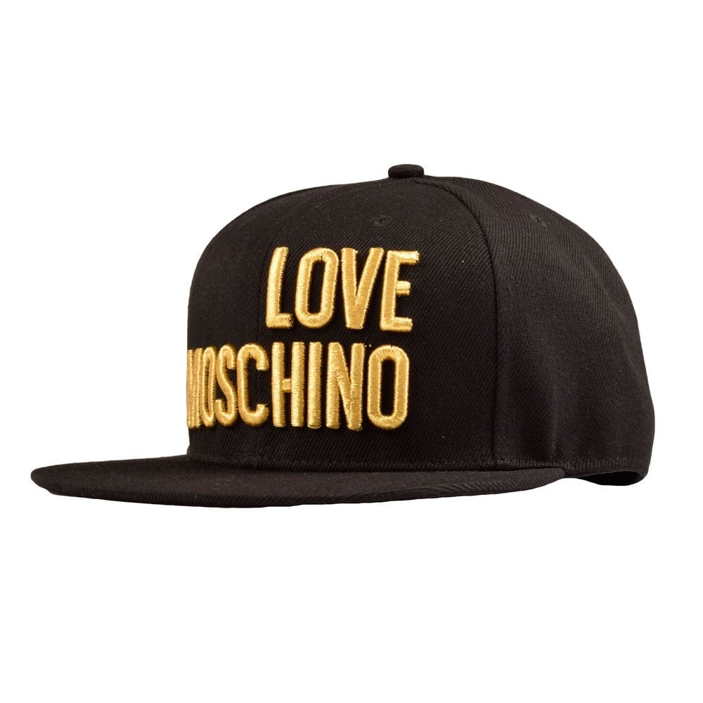 369867cffec LOVE MOSCHINO MA49501 Black Gold  Love Moschino  Cap - Men from ...