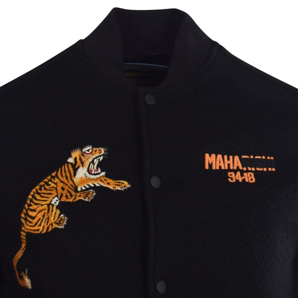 5f1425881 Black Tiger Embroidered College Jacket