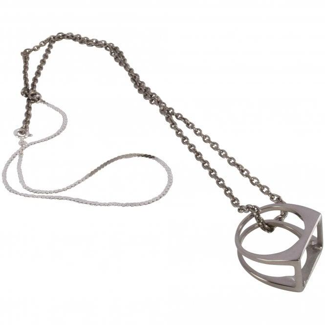 MAISON MARGIELA Décortiqué Pendant Silver Necklace Front