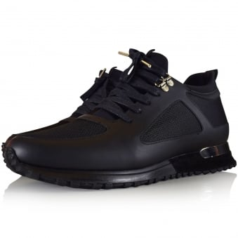 Mallet Footwear Black Diver Midnight Trainers