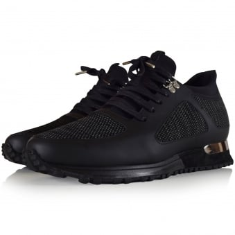 Mallet Footwear Black Knit Diver Trainers