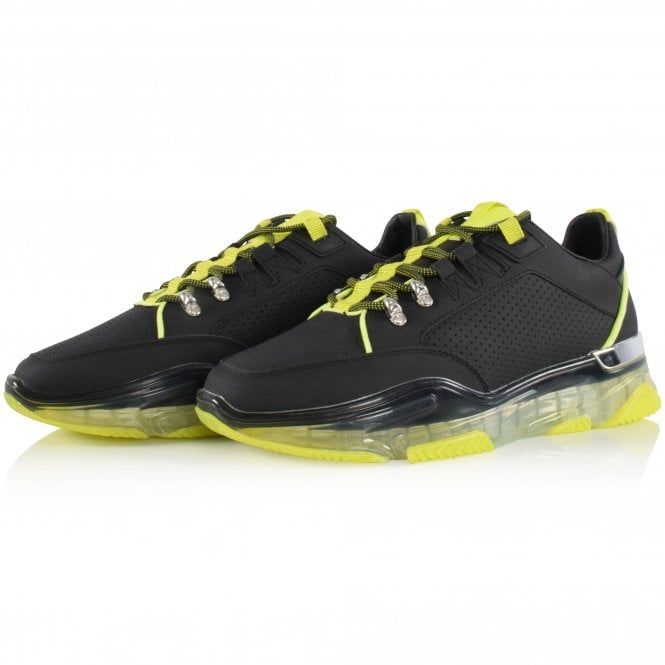 MALLET FOOTWEAR Black/Neon Elmore Trainers Front