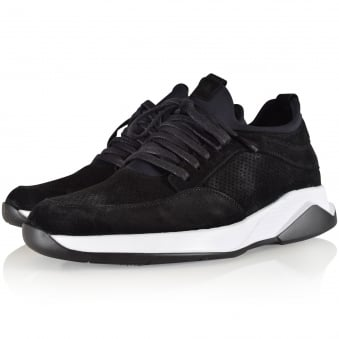 Mallet Footwear Black Suede Archway Trainers