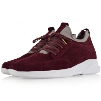 Mallet Footwear Burgundy Suede Archway Trainers