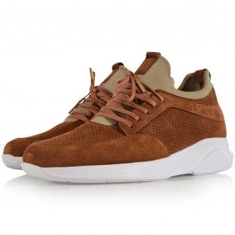 Mallet Footwear Camel Suede Archway Trainers