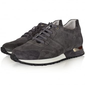 Mallet Footwear Dark Grey Suede Almorah Trainers