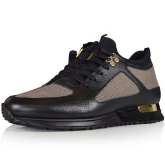 Mallet Footwear Diver Black/Gold Trainers