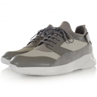 Mallet Footwear Grey Dalston Trainers