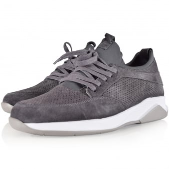 Mallet Footwear Grey Suede Archway Trainers