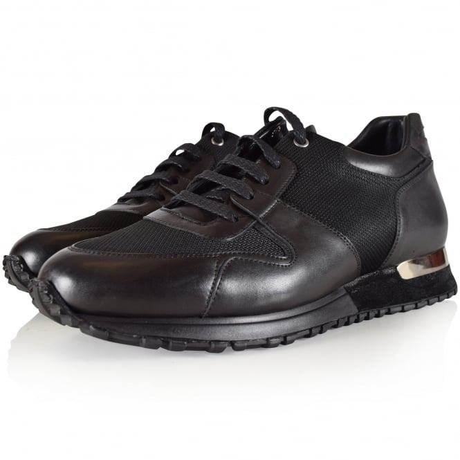 MALLET FOOTWEAR Midnight Black Almorah Trainers