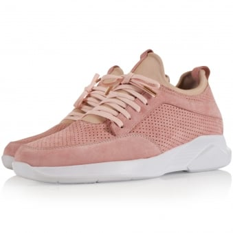 Mallet Footwear Pink Suede Archway Trainers