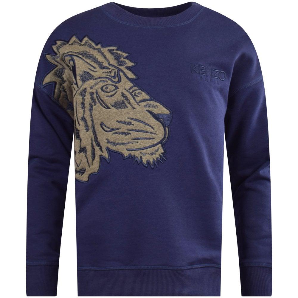 KENZO JUNIOR Marine Blue Fantastic Jungle Sweatshirt - Junior from ... 833893474