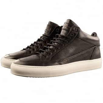 Mason Garments Black Tia Mid Trainers