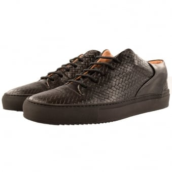 Mason Garments Black Woven Paloma Low Trainers