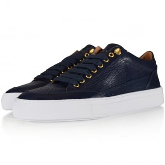 Mason Garments Navy Tia Low Trainers