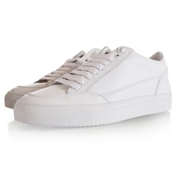 Mason Garments White Leather Tia Low Trainers
