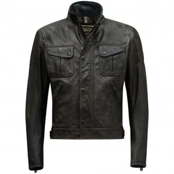 Matchless Antique Black Mick Blouson Jacket