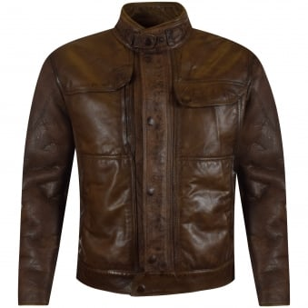 Matchless Brown Dundee Blouson Leather Jacket