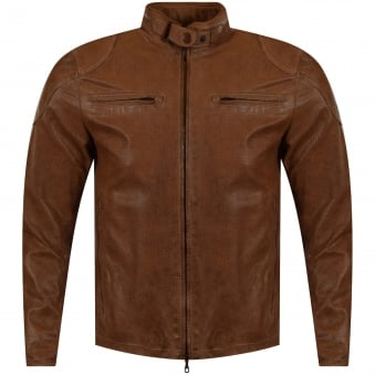 Matchless Jackets Tan Leather Osborne Vent Blouson Jacket