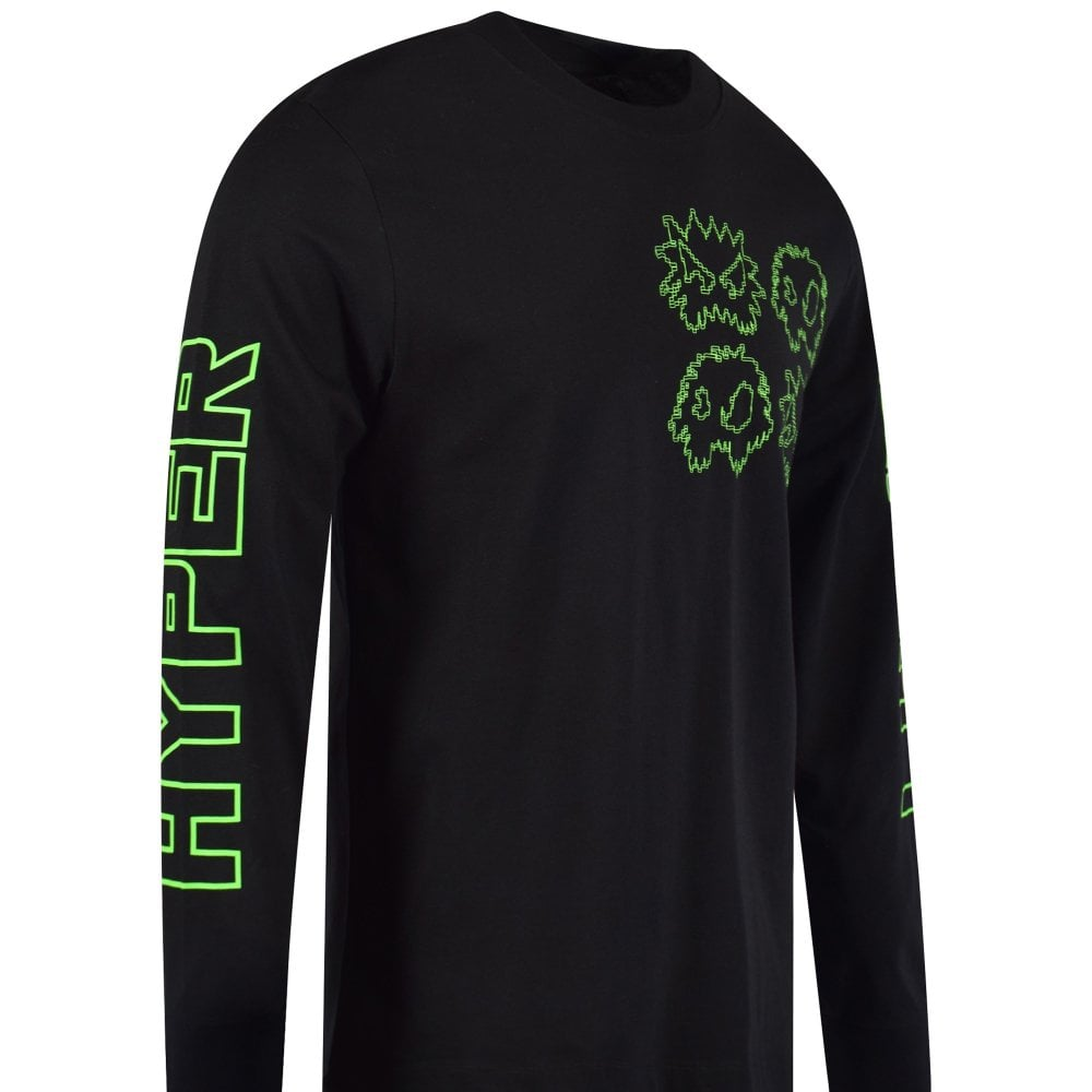 d3f232c2ab McQ by ALEXANDER MCQUEEN Black/Neon Hyper Reality Long Sleeve T ...