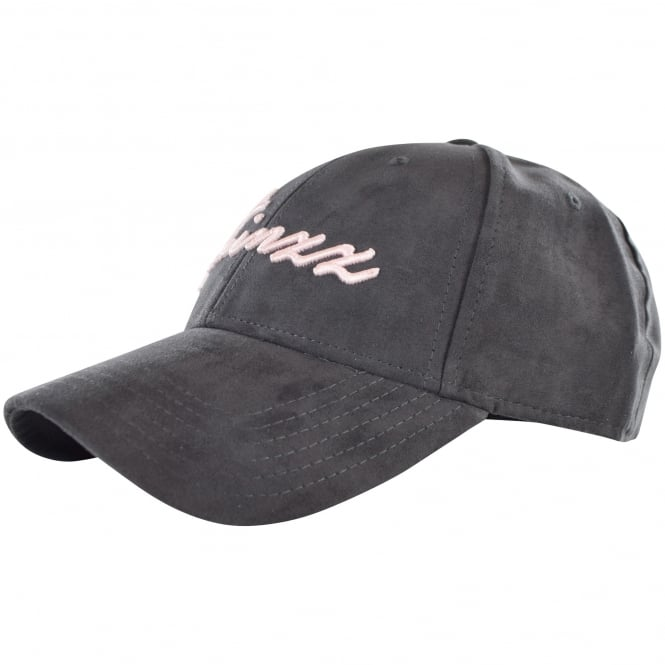 TWINZZ Mens New Logo Suede effect grey Cap