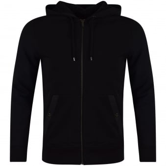 Michael Kors Black Fleece Zip Through Hoodie