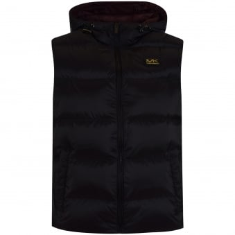 Michael Kors Black Logo Hooded Gilet