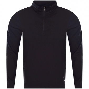 Michael Kors Black Quarter Zip Long Sleeved T-Shirt