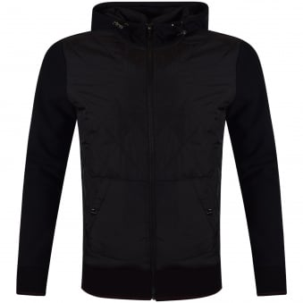 Michael Kors Black Quilted Hooded Jacket