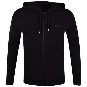Michael Kors Black Zip Through Hoodie