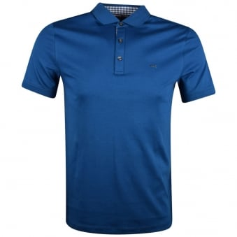 Michael Kors Blue Logo Short Sleeve Polo Shirt