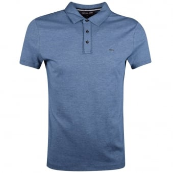 Michael Kors Blue Marl Short Sleeve Polo Shirt