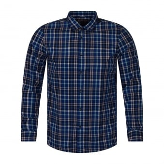 Michael Kors Blue/White Check Shirt
