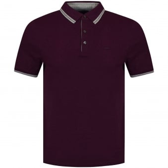 Michael Kors Burgundy Logo Polo Shirt
