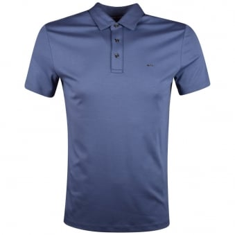 Michael Kors Chambray Short Sleeve Polo Shirt