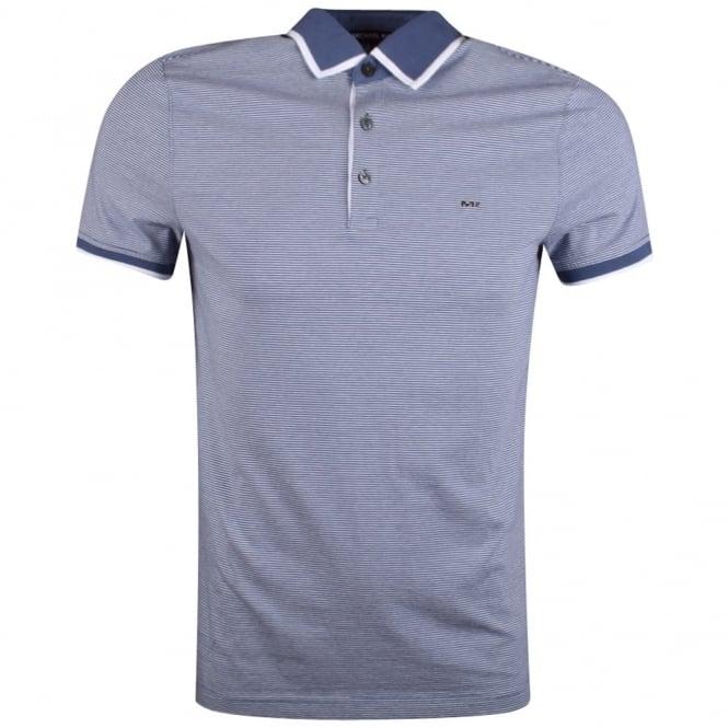 84585d33 MICHAEL KORS Michael Kors Chambray Striped Short Sleeve Polo Shirt ...