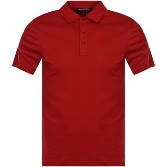 Michael Kors Crimson Red Short Sleeve Polo Shirt