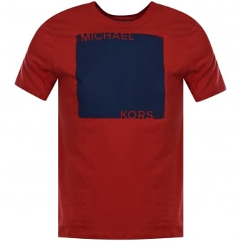 Michael Kors Flame Red Logo T-Shirt