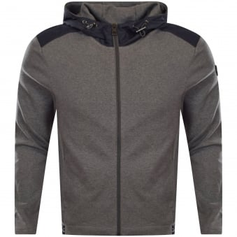 Michael Kors Grey Zip Through Hooded Jumper