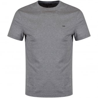 Michael Kors Heather Grey Crew Neck Logo T-Shirt