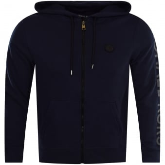 Michael Kors Midnight Blue Zip Through Hoodie