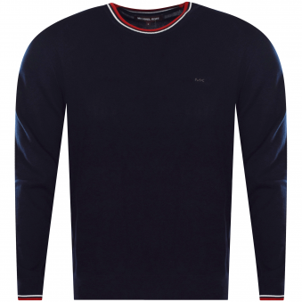 Michael Kors Midnight Stripe Detailing Jumper