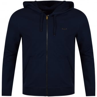 Michael Kors Navy Large Logo Zip Up Hoodie