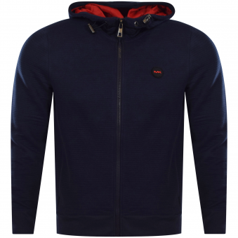 Michael Kors Navy/Red Zip Up Hoodie