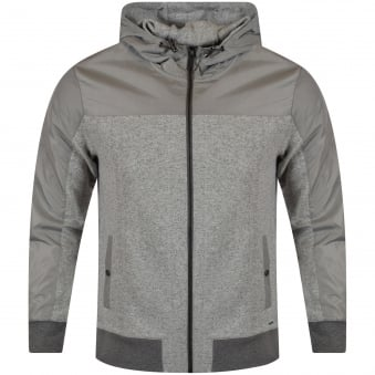 Michael Kors Salt & Pepper Nylon Contrast Hoodie