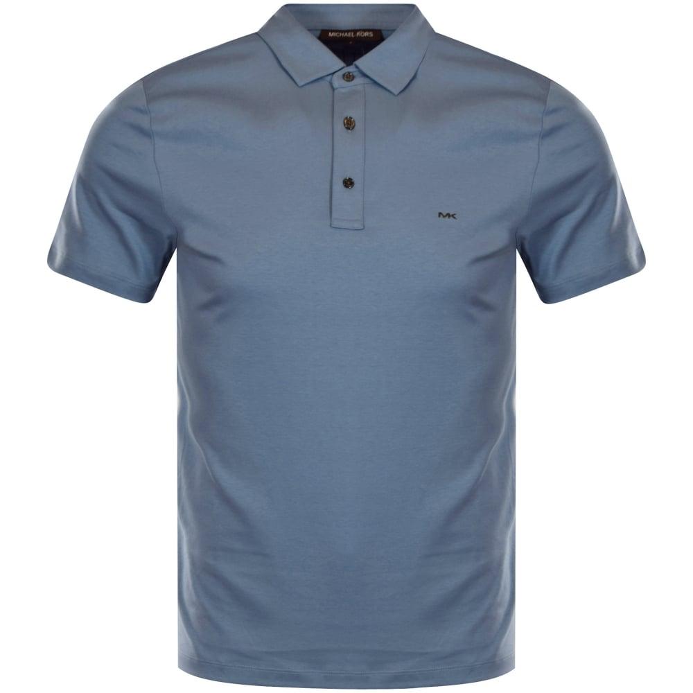 979d3caf MICHAEL KORS Michael Kors Sky Blue Logo Polo Shirt - Men from ...