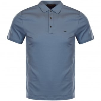 Michael Kors Sky Blue Logo Polo Shirt