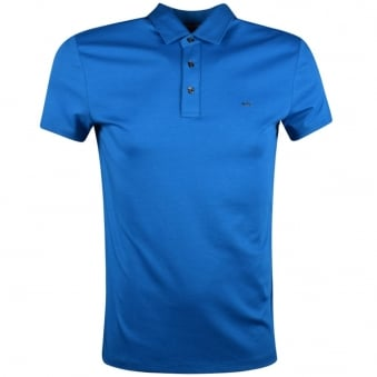Michael Kors Turquoise Short Sleeve Polo Shirt