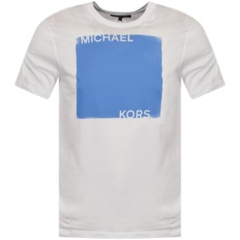 Michael Kors White Large Print T-Shirt